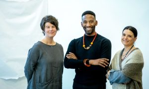 three faculty artists