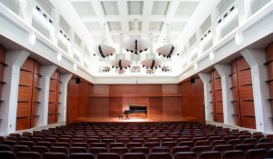 Photo of the Tew Recital Hall interior