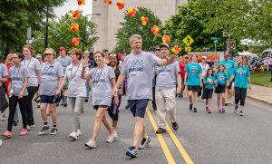Photo of group of walkers at last year's Guilford County Heart and Stroke Walk