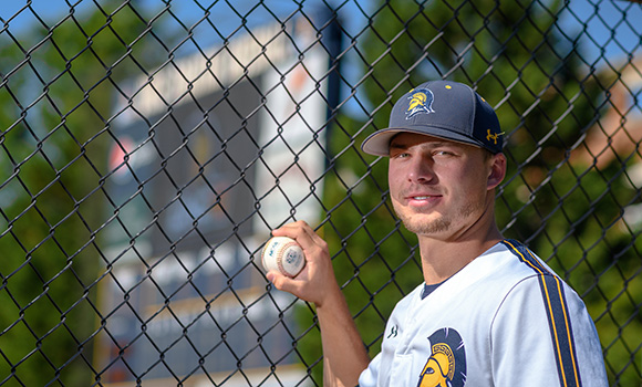 Relief pitcher Chad Sykes holds top ERA in nation