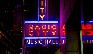 Photo of the Radio City sign