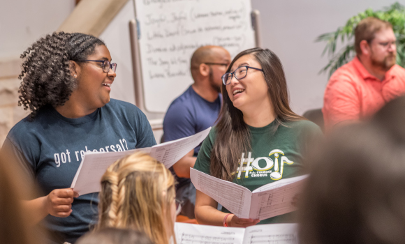 Students are mentors at UNCG Summer Music Camp