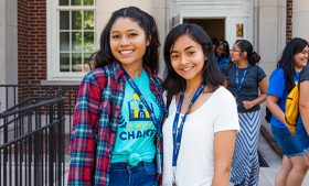 Photo of two girls on campus for CHANCE program