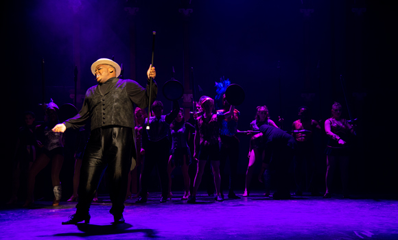 Actor Jordan Speas performs during dress rehearsal of Pippin.