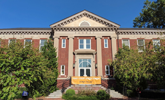 Exterior photo of building on campus