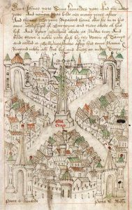 medieval city map