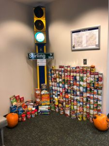 Photo of the food drive
