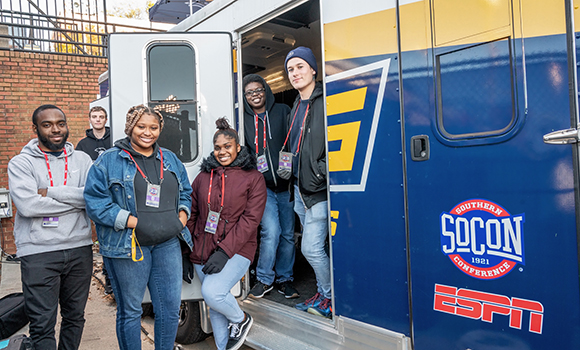 Students get hands-on experience with ESPN broadcasts