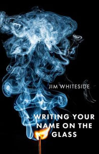 book cover with smoke