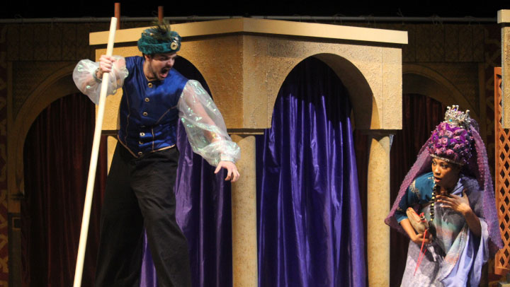 Photo of performers during Tales of the Arabian Nights