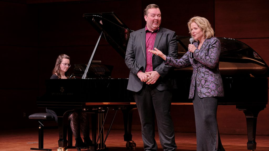 Renee Fleming coaches student with piano accompaniment