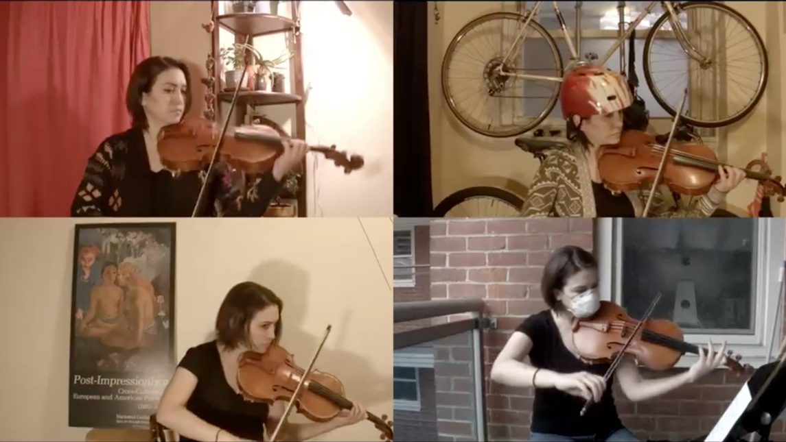 UNCG alumni play instruments in YouTube video