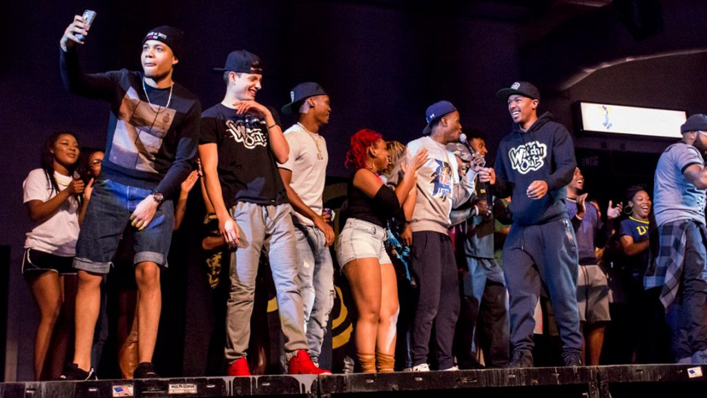 people on stage during Wild N' Out event