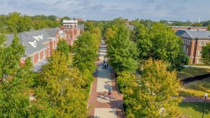 drone photo of College Avenue