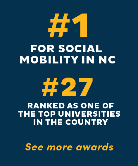 UNCG #1 for Social Mobility in NC