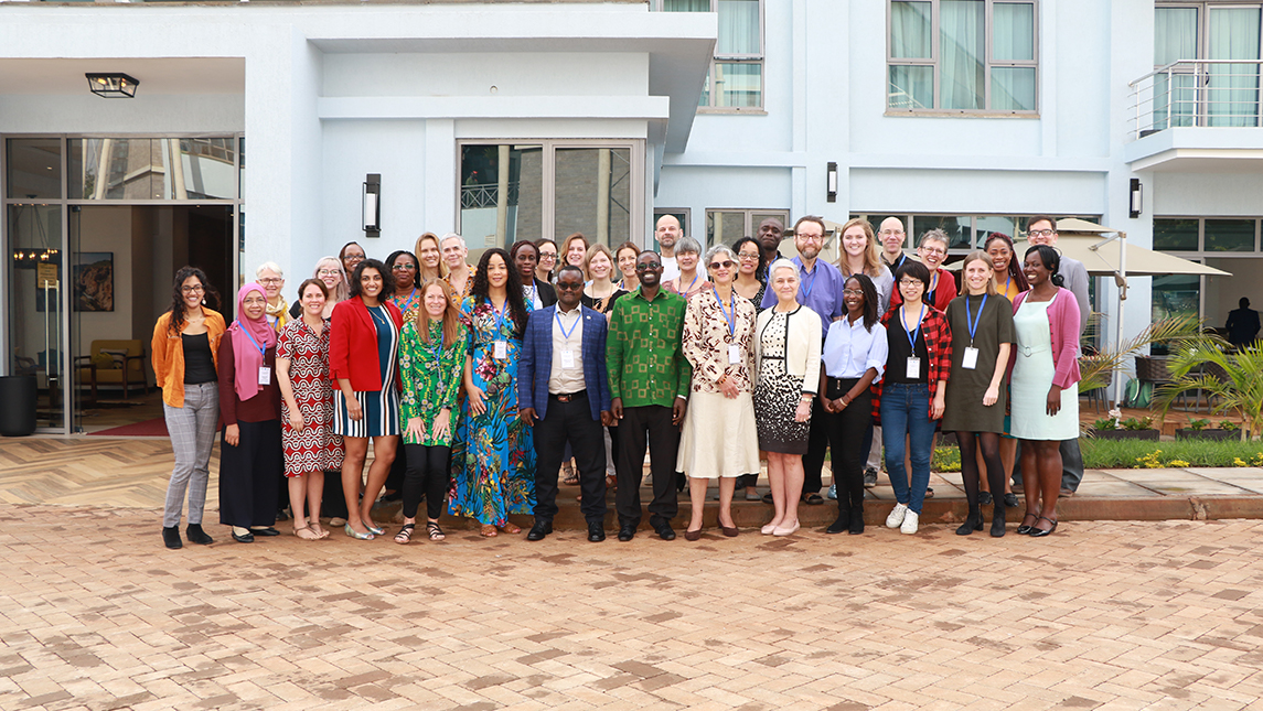 Erausquin pictured with the 17 other researchers at the African Population Research Health Center in January