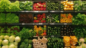 Photo of grocery store produce