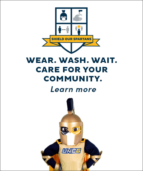 UNCG Wear. Wash. Wait. graphic