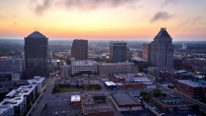 Downtown GSO aerial shot