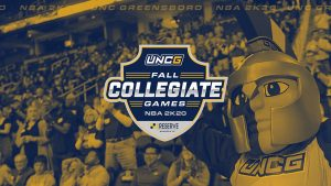 'Fall Collegiate Games' graphic with fans