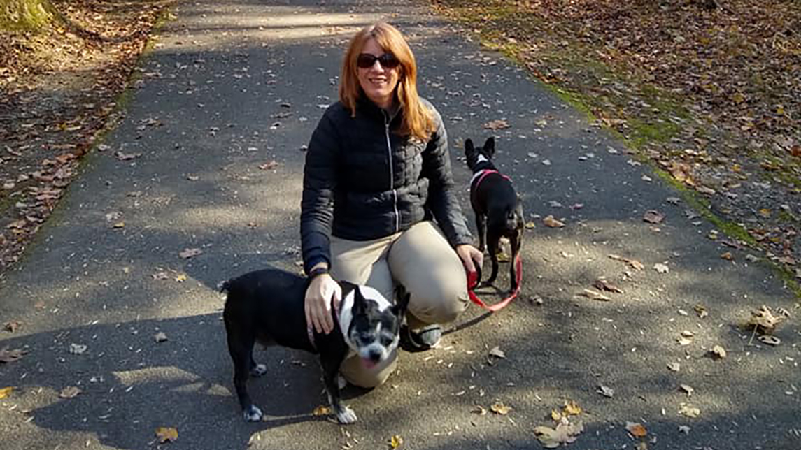 Dr. Gwen Hunnicutt with her dogs