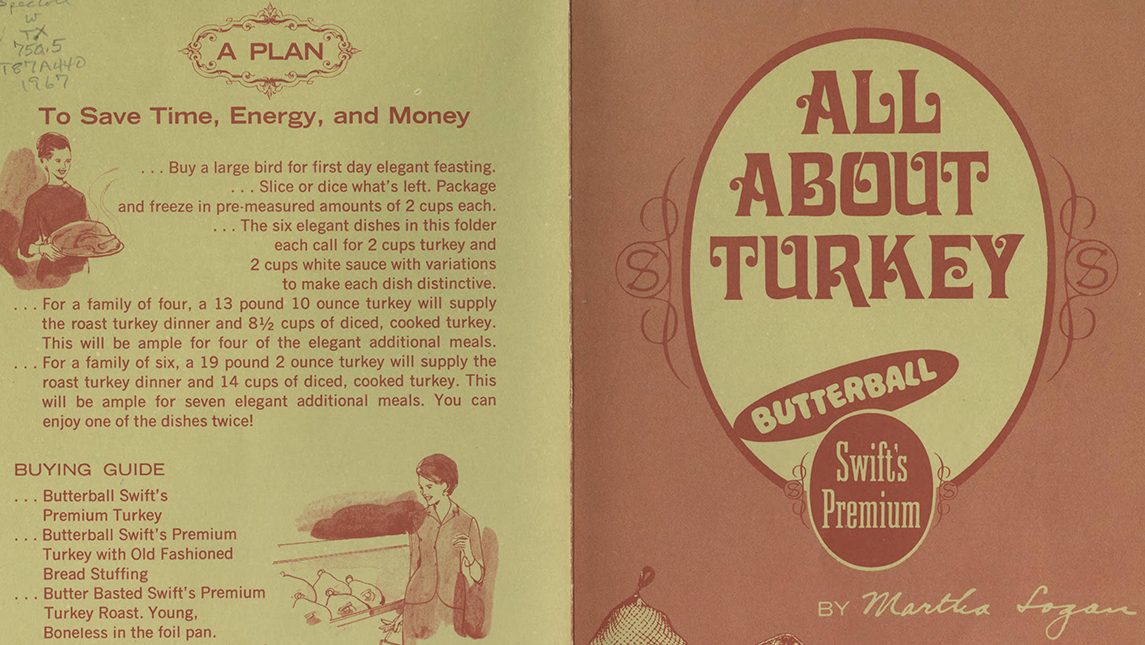 """All About Turkey"" recipe book from 1967"