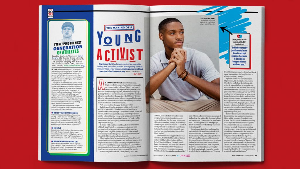 Photo of magazine spread