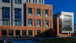Photo of exterior of new building