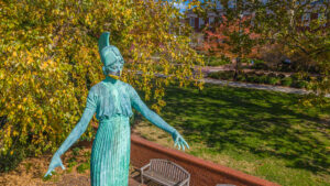 Fall image of Minerva on UNCG Campus