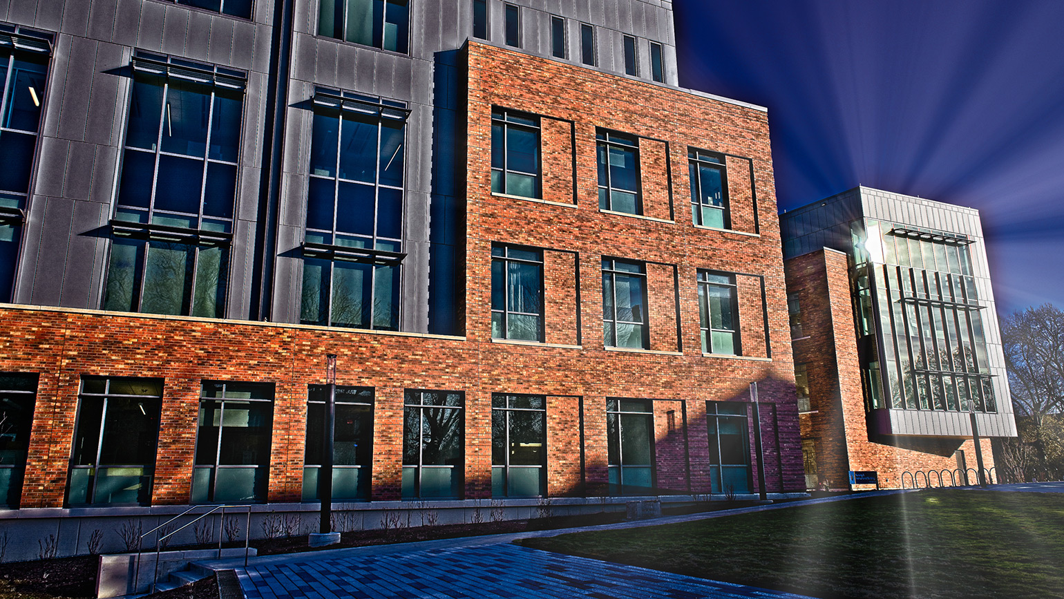 Exterior of new Nursing and Instructional Building