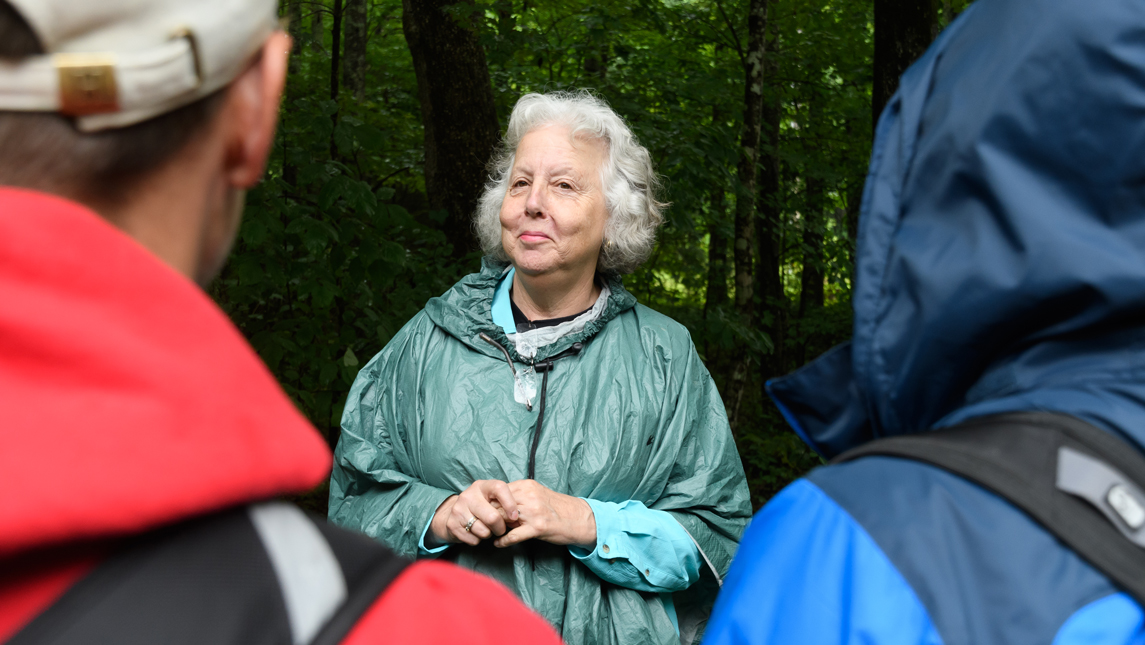 Ann Berry Somers on site at a HERP Project herpetology camp, where high school students learn to become citizen-scientists, collecting real world data.