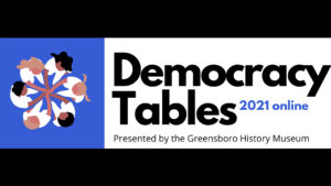 Democracy Tables promotional graphic