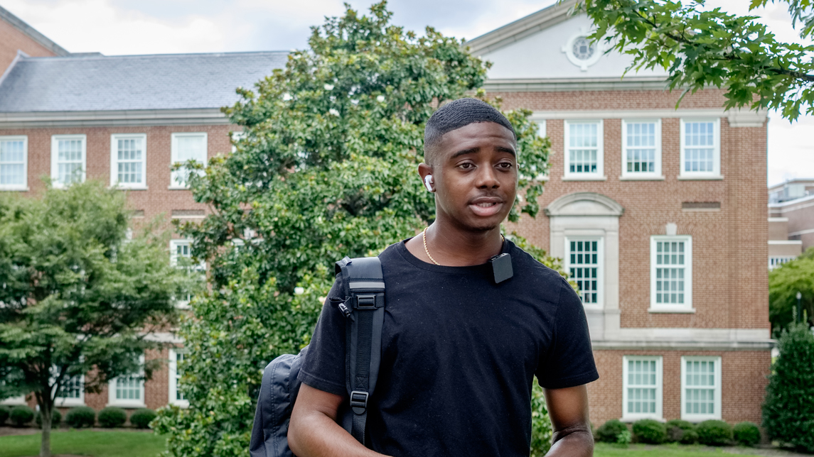 young man on campus